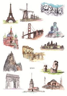 Thornbird Sticker (Various Designs) Album Jeunesse, City Icon, Buch Design, Instagram Logo, Travel Illustration, Urban Sketching, Adventure Is Out There, Travel Posters, Rock Art