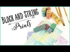 Block and String Prints - YouTube