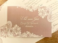 """Einladungskarte """"Feine Spitze"""" Vintage zur Hochzeit Diy Design, Tapestry, Vintage, Home Decor, Create Quotes, Invitation Text, Card Wedding, Getting Married, Invitations"""