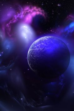 blue planet outer space sci fi art iPhone wallpaper background