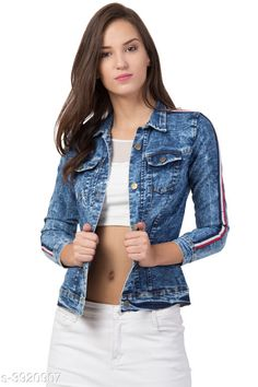 Blazers Denim Women's Jackets Denim Women's Jackets Country of Origin: India Sizes Available: XS, S, M, L, XL   Catalog Rating: ★4.2 (601)  Catalog Name: Attractive Denim Women'S Jackets Vol 2 CatalogID_552321 C79-SC1029 Code: 963-3920907-369