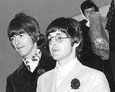 "stillmyguitar: "" George and Paul Deplaning """