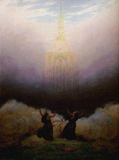 1814 Caspar David Friedrich, Vision of the Christian Church, Oil on canvas 66,5 x51, 5cm Collection Georg Schäfer
