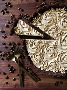 Dark Chocolate Espresso Tart