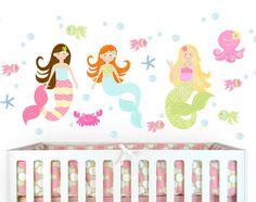 Mermaid Wall Decals Sea Stars Girl Vinyl Stickers Fish Bathroom Decor Home  Spa Salon Nursery Room Decor (White,m), Http://www.amazon.ca/dp/B01DIMO8u2026