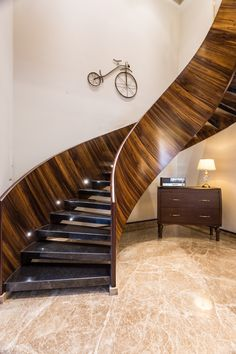 Inventive Staircase Design Tips for the Home – Voyage Afield Wooden Staircase Design, Staircase Wall Decor, Stair Railing Design, Stair Decor, Wooden Staircases, Stairways, Latest Window Designs, Latest House Designs, Hyderabad