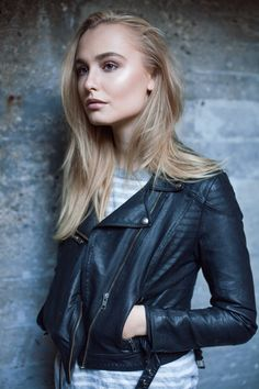 Concrete wall Model: Cecilie Damgaard Christensen Photo and edit: Sofie Kirkeby Concrete Wall, Fashion Models, Leather Jacket, Studded Leather Jacket, Leather Jackets, Models, Fashion, Fashion Templates