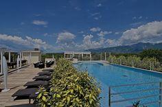Rooftop pool at Zen Hotel Versilia, Pietrasanta, Italy