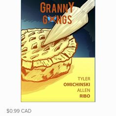 I have been so pumped for this project and can't believe it's finally ready to go! Grannies in gangs fighting! Hilarity ensues!  Please please please check it out at www.omichinski.com  #comics #newcomics #comedy #humour #torontocomics #canadacomics #funny #graphicnovel