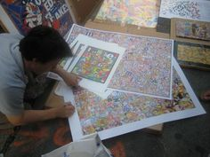 MA signing prints on streets of NYC Summer 2008