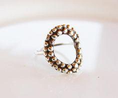 Solid Silver circle ringElegant ringEveryday Jewelry