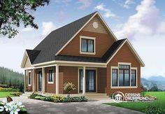 Première maison, premier acheteur : #chalet économique champêtre, 2 chambres, bureau à domicile (no. 3507-V2) #Abordable #PlandeMaison http://www.dessinsdrummond.com/detail-plan-de-maison/info/1003112.html