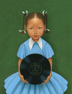 from Kadir Nelson, on artodessy1@blogspot I wish I could read the label on the record.  foybringsjoyescritor