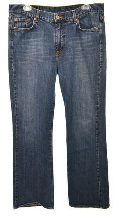 LUCKY BRAND Womens 12 31 Dark Wash Stretch Bootcut Denim Jeans  #LuckyBrand #BootCut