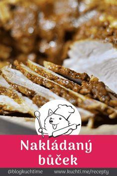 Nakládaný bůček - domácí a chuťově naprosto unikátní. Nakládaný bůček si do jídelníčku určitě nezařadí vegetariáni ani zapřísáhlí dietáři, ale pro vás všechny ostatní může být tipem na něco gurmánského. Pravděpodobně bůček sníte ještě dříve, než stihne řádně odležet. | @blogkuchtime  | #recepty #jidlo #inspirace #vareni #foodblog #kucharka Bucky, Meat, Food, Beef, Meal, Essen, Hoods, Meals, Eten