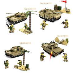 78.10$  Watch here - http://aliuk1.shopchina.info/go.php?t=32801868695 - Modern military war The Predator Tank team 4in1 Mammoth building block Leclerc M1A2 T90 Challenger II bricks  toys 78.10$ #bestbuy