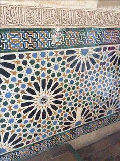 Mosaicos. Palacios Nazaríes. Granada.