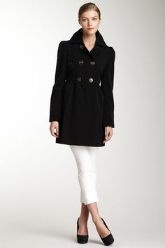 Kenneth Cole Outerwear Double Breasted Peacoat $54.00  (want something like this in wool)