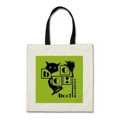 Boo. Fun Halloween Tote Bags. Matching cards, postage stamps and other products available in the Holidays / Halloween Category of the Mairin Studio store at zazzle.com