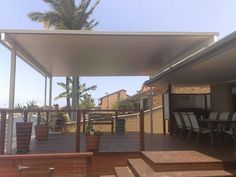 Patio Design Ideas - Photos of Patios. Browse Photos from Australian Designers & Trade Professionals, Create an Inspiration Board to save your favourite images. Pergola With Roof, Patio Roof, Pergola Patio, Backyard, Gazebo, Carport Designs, Pergola Designs, Pergola Ideas, Patio Ideas