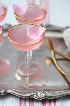 Lovely lady rose cocktail recipe.