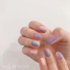 Love Nails, Pink Nails, How To Do Nails, Pretty Nails, My Nails, Korean Nail Art, Minimalist Nails, Nail Art Designs, Nail Polish Designs