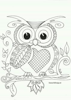 Owl Coloring Pages for Kids. 20 Owl Coloring Pages for Kids. Printable Owl Coloring Page Owl Coloring Pages, Printable Adult Coloring Pages, Mandala Coloring Pages, Coloring Pages For Kids, Coloring Books, Fairy Coloring, Kids Coloring, Zentangle, Owl Crafts