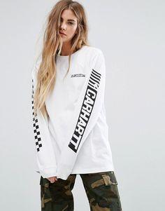 Carhartt WIP | Carhartt WIP - Cart - T-shirt oversize à manches longues avec logo imprimé sur la manche