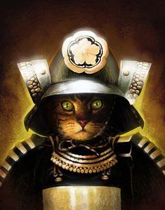 Catsumoto Samurai Cats by BilboStabbins Feb 9 2015