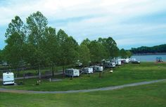 Green River Lake State Park in KY - RV sites, marina, The marina has a restaurant and the lake abounds in