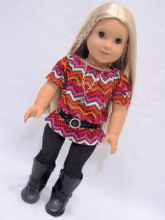 Trendy American Girl Doll Clothes Liberty Jane by AvannaGirl, $32.00