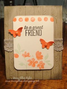 "Stampin"" Up! Painted Petals, Occasions 2015 Catalog, Hardwood, Sale A Bration, Mary Ellen Byler"