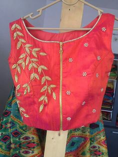 Embroidered blouses Saree Jacket Designs, Saree Blouse Neck Designs, Dress Neck Designs, Baby Dress Patterns, Beadwork Designs, Back Neck Designs, Designer Blouse Patterns, Blouse Models, Hand Embroidery