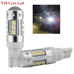 22.08$  Buy here - http://alihbi.shopchina.info/go.php?t=32780145736 - 2 BRIGHTEST Xenon White Cree Chips 80W T10 194 LED Bulbs FRONT SIDEMARKER For CADILLAC ESCALADE 22.08$ #buyonlinewebsite