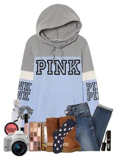 """""""No school this week!!"""" by southernstruttin ❤ liked on Polyvore featuring Victoria's Secret PINK, Jennifer Zeuner, West Elm, Topshop, tarte, Eos and Topman"""