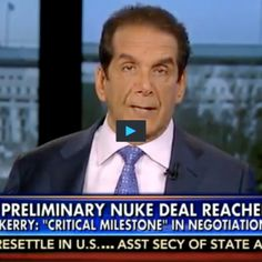 """Charles Krauthammer Highlights The 'Most Astonishing' Aspect About The Iranian Nuclear Agreement Netanyahu called the deal """"unconscionable"""" and one that would lead to a """"horrific"""" nuclear war.  Read more at http://www.westernjournalism.com/charles-krauthammer-highlights-astonishing-aspect-iranian-nuclear-agreement/#SBZWTPws1iZirTQv.99"""