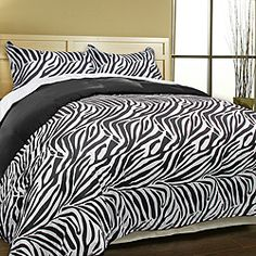 @Overstock - Upgrade your bedroom decor with this luxurious animal prints duvet cover set. This bedding set features zebra reverse black color on a soft microfiber fabric.http://www.overstock.com/Bedding-Bath/Luxury-Zebra-Microfiber-Duvet-Cover-Set/5876174/product.html?CID=214117 $41.19