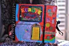 Scrap-Booking but the idea of a travel journal never crossed my mind until Travel Map Pins, Travel Maps, Travel Posters, Travel Checklist, Packing Tips For Travel, Japan Travel, Italy Travel, Creative Journal, Travel Alone