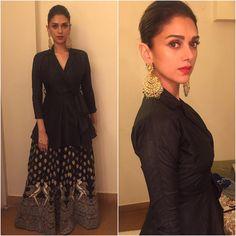 Aditi Rao Hyderi wearing Surendribyyc at Masaba's Wedding Reception Pakistani Dresses, Indian Dresses, Indian Outfits, Anarkali Dress, Bollywood Celebrities, Bollywood Fashion, Bollywood Style, Trendy Outfits, Fashion Outfits