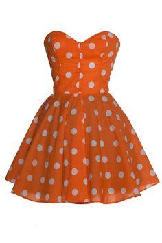 Image of Pin-Up Mini Orange Party Dress