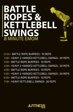Battle Ropes and Kettlebell Swings Workout | Posted by: AdvancedWeightLossTips.com https://www.kettlebellmaniac.com/kettlebell-exercises/