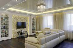 парящие натяжные потолки дизайн