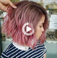 You don't have to have Rapunzel length to wear beautiful balayage. Pink Ombre Hair, Rapunzel, Cute Hairstyles, Tie Dye, Hair Styles, Beautiful, Hair Plait Styles, Tangled, Hair Makeup