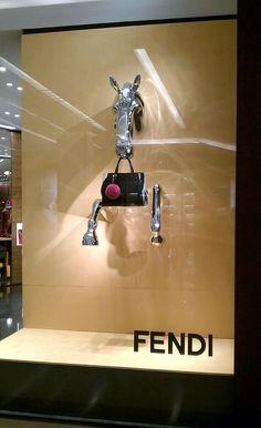 Fendi window display #retail #design #fendi