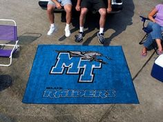Middle Tennessee St MTSU Blue Raiders 5X6 Indoor/Outdoor Tailgate Rug/Mat/Carpet