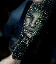 Tatuagem Inspirada em Hacker