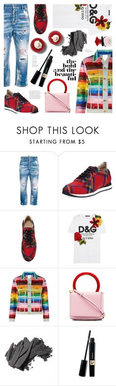 """Dress Up a T-Shirt"" by ames-ym ❤ liked on Polyvore featuring Dsquared2, Burberry, Dolce&Gabbana, Ashish, Marni and Bobbi Brown Cosmetics"