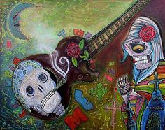 "Signed Print, Mexican Folk Art by Laura Barbosa, 16.0"" X 20.2"" Day of the Dead #Surrealism"