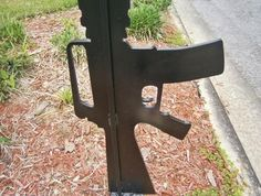mailbox gun close up mailboxgun.com - Keep the second amendment around - support gun rights and the right to bear arms