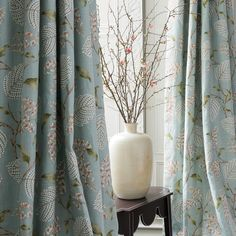 Atwood in old blue #colefaxandfowler #newcollection #ss18 #fabrics #textiles #curtains #atwood #classic #decoration #blue #print #linen #homedecor #interiors #interiordesign #style #design #inspiration #textiles #home #style #house #florals
